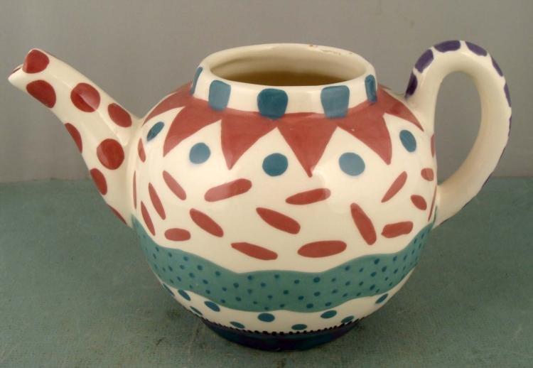 Lynn Morris Art Pottery Tea Pot Teapot Signed