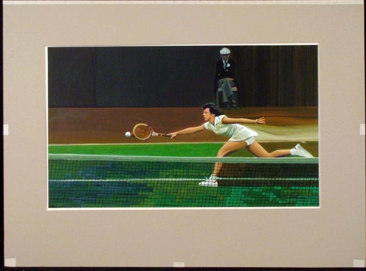 William Chambers Original Painting Billie Jean King