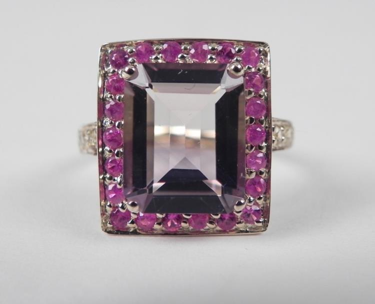 14K Yellow Gold Ametrine Ring -Emerald Shape