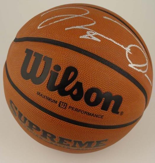 Michael Jordan Bulls Signed Wilson BASKETBALL COA