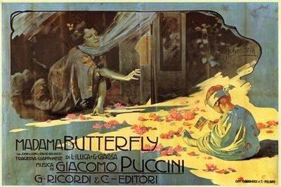 2) Opera Giclees Madam Butterfly Vintage Advertising