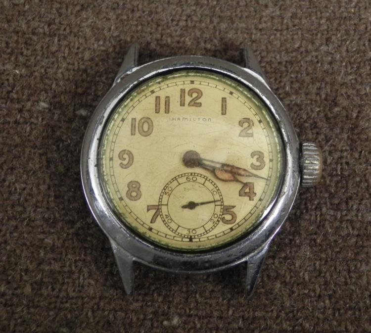 """WWII HAMILTON MILITARY WATCH-MARKED """"ORD DEPT-USA"""""""