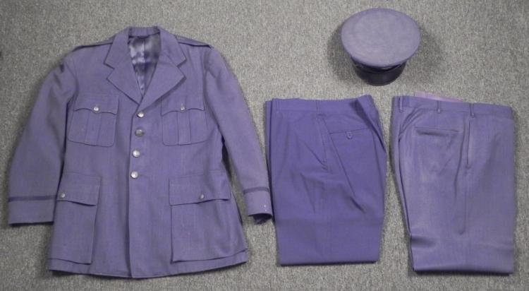 U.S. 1950S COMPLETE AIR FORCE UNIFORM-COAT,PANTS,HAT 43