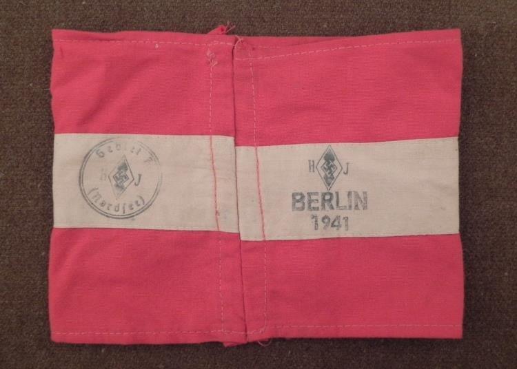 Nazi Swastika Armband Stamped Berlin 1941 -Repro - 2