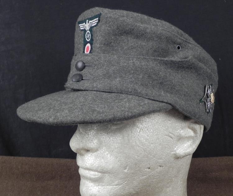 NAZI WEHRMACHT M43 BERGMUETZE/MOUNTAIN TROOPS CAP