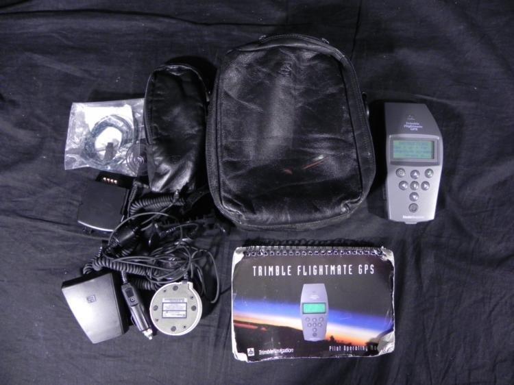 Trimble Flightmate GPS Pilot Navigation in Leather Case