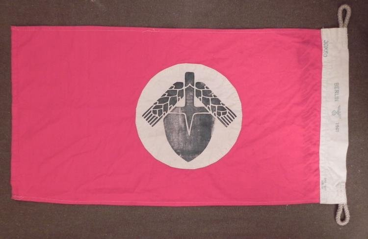 Nazi NASD Flag Stamped Berlin 1941 -Repro
