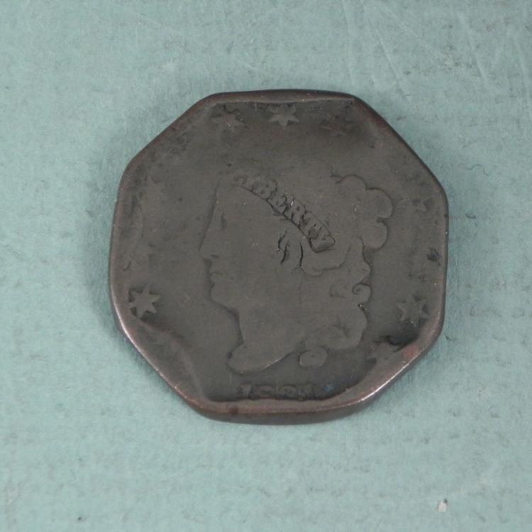Novelty U.S. Octagon Shape 1831 Large Cent