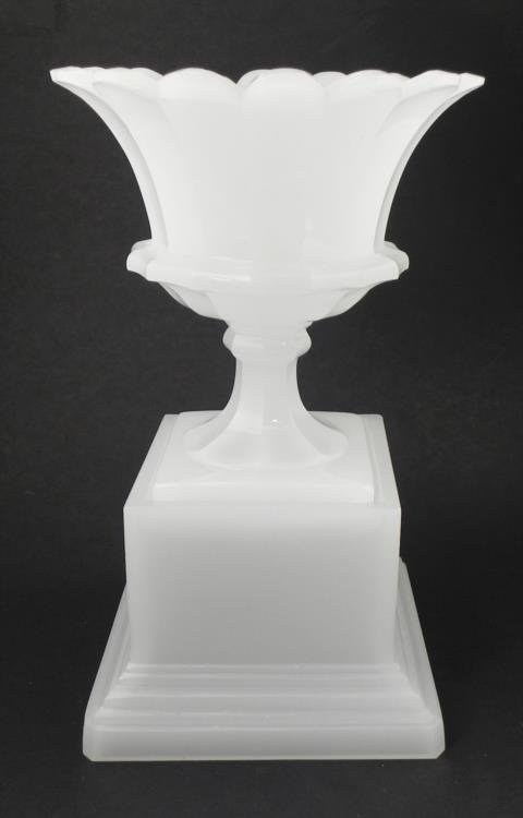 Large white glass vase on pedasetal stand antique large white glass vase on pedasetal stand reviewsmspy