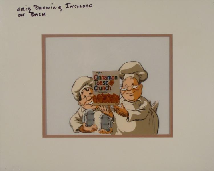 Cinnamon Toast Crunch Ad Orig Production Cel & Drawing