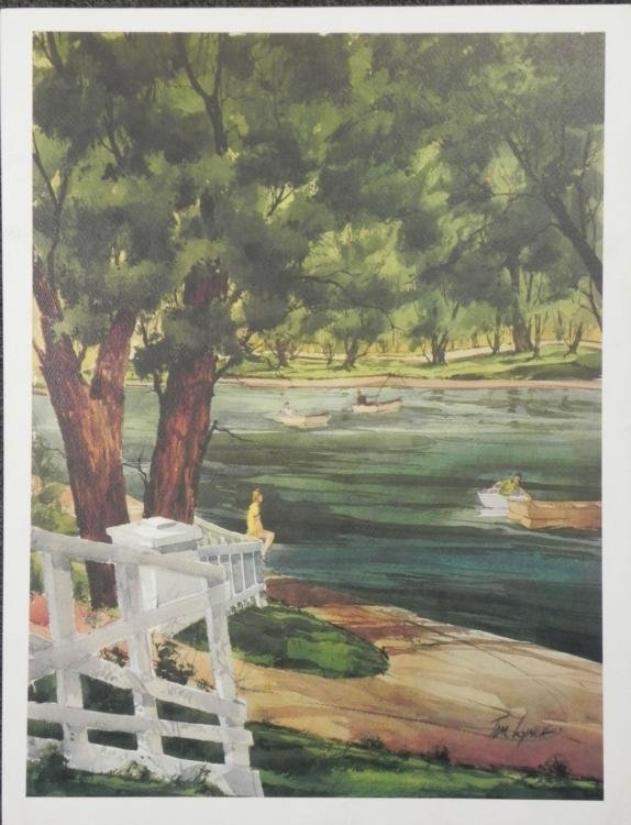 Tom Lynch At the Waterfront Art Print