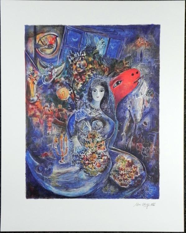 Marc Chagall Moonlight Bouquet Art Print