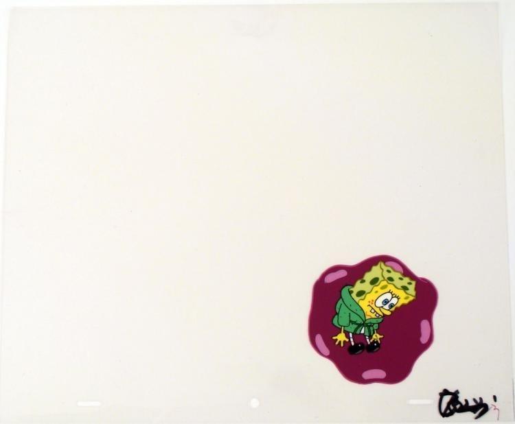 Cel Original Art No Escape Animation Spongebob