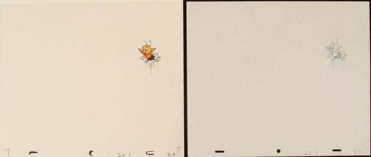 Buzz Cel Original Animation Drawing Cheerios Fly Art