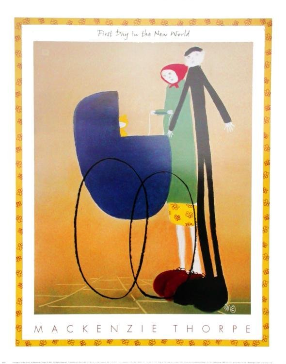 Mackenzie Thorpe 'FIRST DAY IN A NEW WORLD' Lithograph