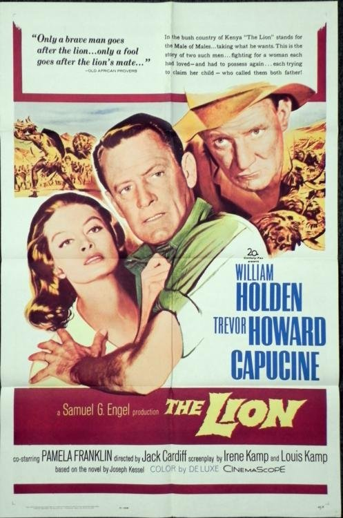 William Holden The Lion 1962 Movie Poster