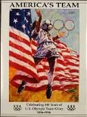 Olympic Soccer Americas Team USA Luongo 1996 Atlanta