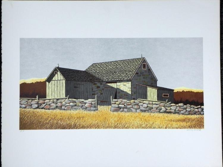 Gerry Dvorak Signed Art Print Barn Landscape