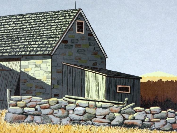 Gerry Dvorak Signed Art Print Barn Landscape - 2