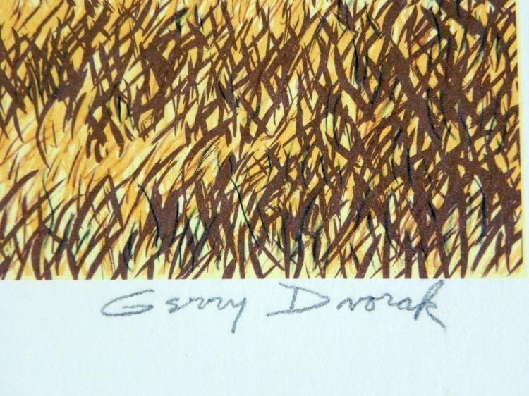 Gerry Dvorak Signed Art Print Barn Landscape - 3