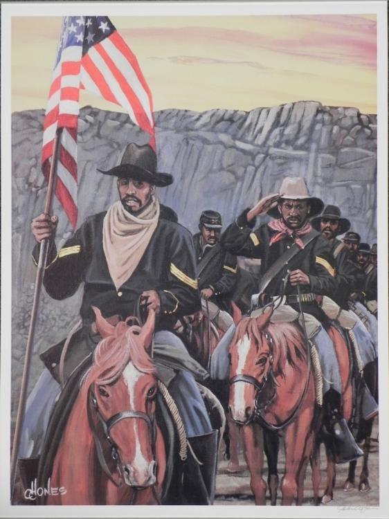 John W. Jones After the Battle Civil War Art Print