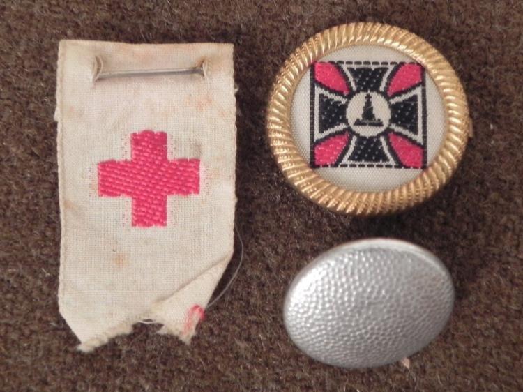 3 NAZI ITEMS-WEHRMACHT MARKED ASSMANN--VETERANS PIN