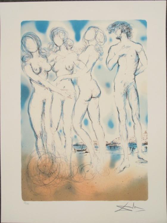 Salvador Dali : The Judgment of Paris Art Print