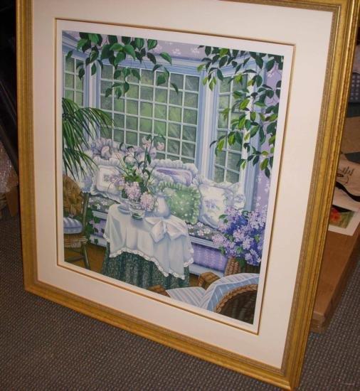 Garden Room By Rios 1987 S/N UNFRAMED Mint!