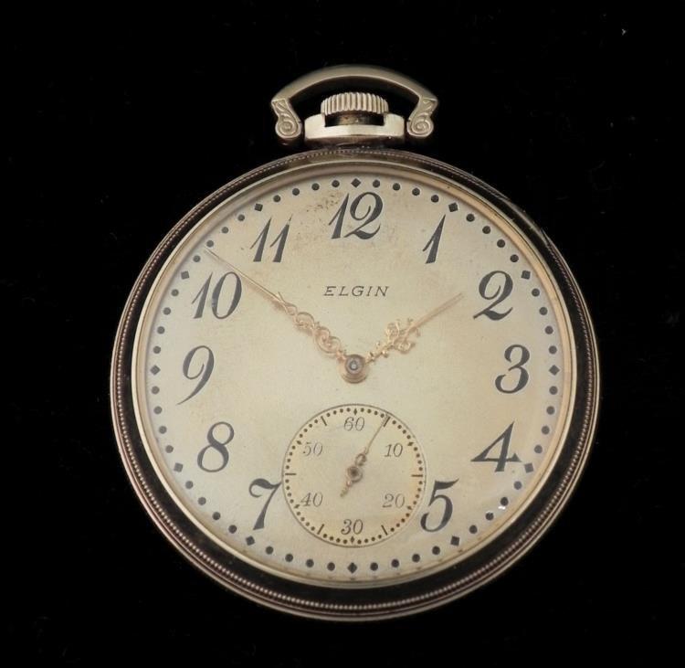 1909 Elgin Gold Filled Antique OF Pocket Watch