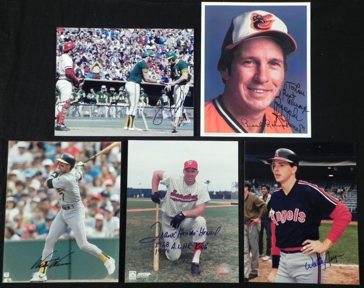 5) AL Signed Photos- Brooks Robinson Frank Howard