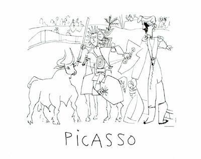Pablo Picasso Marina Art Print Bullfight