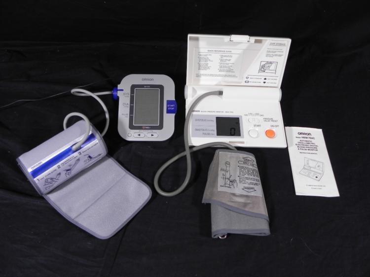 2 Omron Blood Pressure Monitors BP755-CD6, HEM-704C