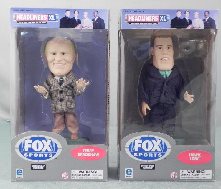 2 Bobbleheads NFL Fox Terry Bradshaw, Howie Long