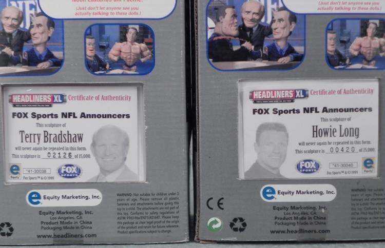 2 Bobbleheads NFL Fox Terry Bradshaw, Howie Long - 3