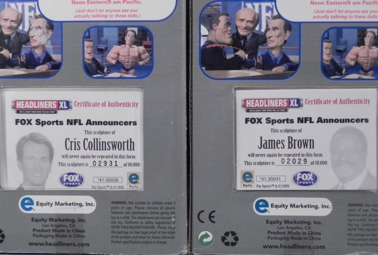 2 Bobbleheads NFL Fox James Brown, Cris Collinsworth - 3