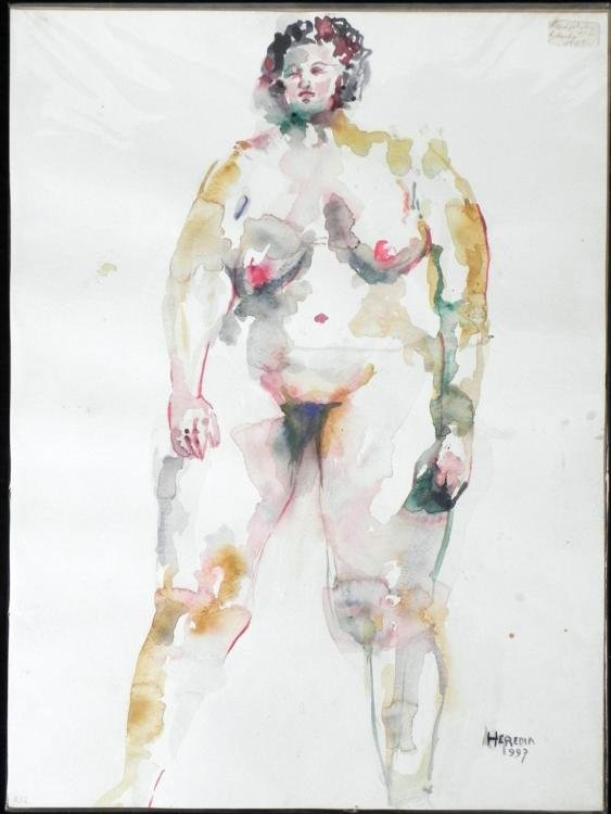 Betty Snyder Rees Original Painting Saturday Nudes #32