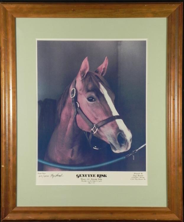 Tony Leonard Print Kentucky Derby Winner Genuine Risk