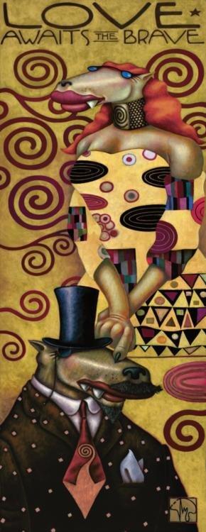 Markus Pierson 'LOVE AWAITS THE BRAVE' Canvas