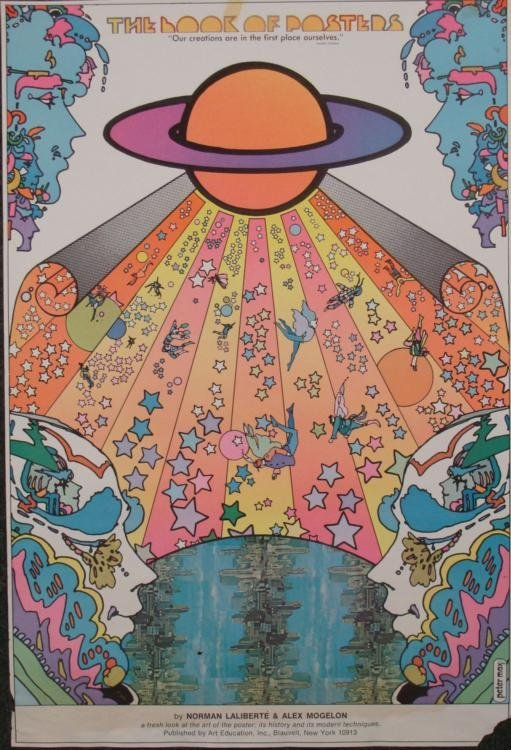 Peter Max Art Book of Posters Release Poster