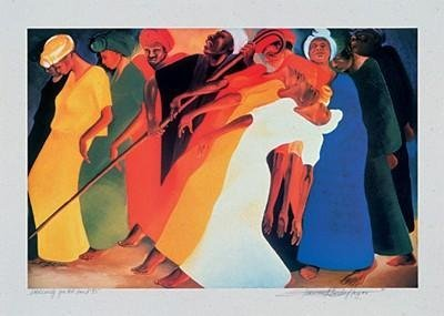 Bernard Hoyes Dancing for the Lord Signed