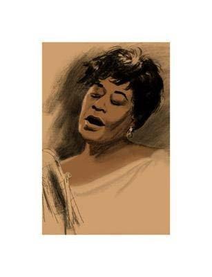 Clifford Faust : Ella Fitzgerald Artist Proof Giclee