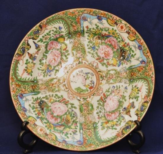 Rose Medallion porcelain plate China