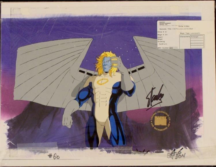 Orig X-Men Signed Stan Lee Cel Background Animation Ang
