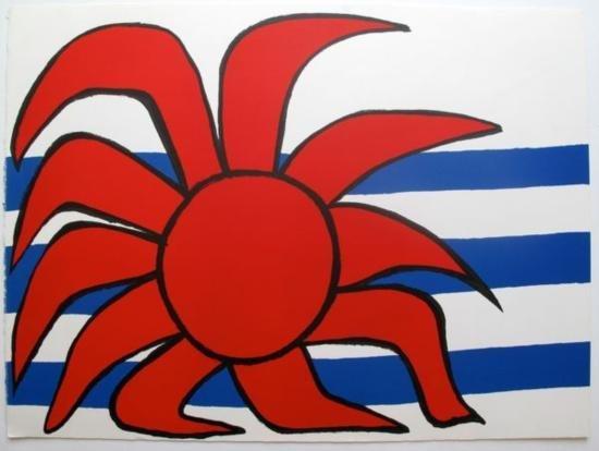 SOLEIL SUR LES VAGUES 1973 Lithograph Alexander Calder