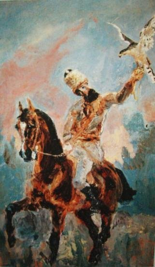 The Falconer By Lautrec 22 x 17 1/2 Giclee L/Editiion