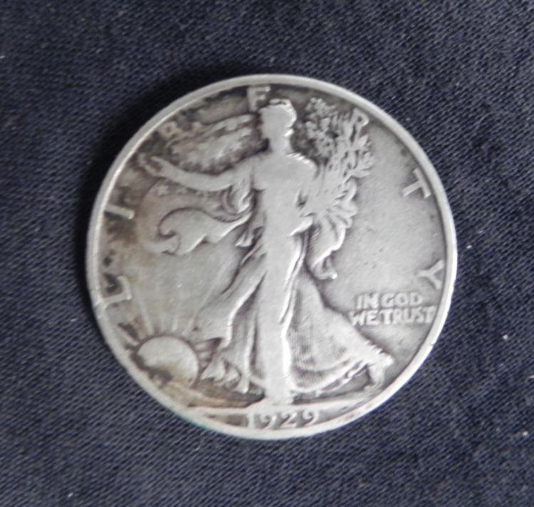 Liberty Walking Halve 1929-D, Nice Coin w/ Full Date