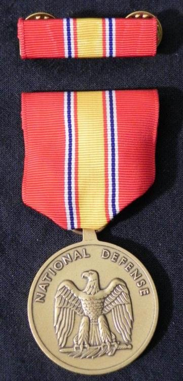 U.S. NATIONAL DEFENSE SERVICE MEDAL & RIBBON BAR