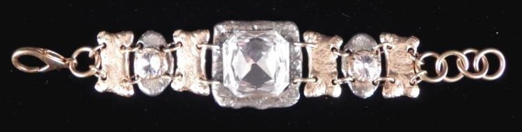 J. Jansen Signed Large Rhinestone Bracelet