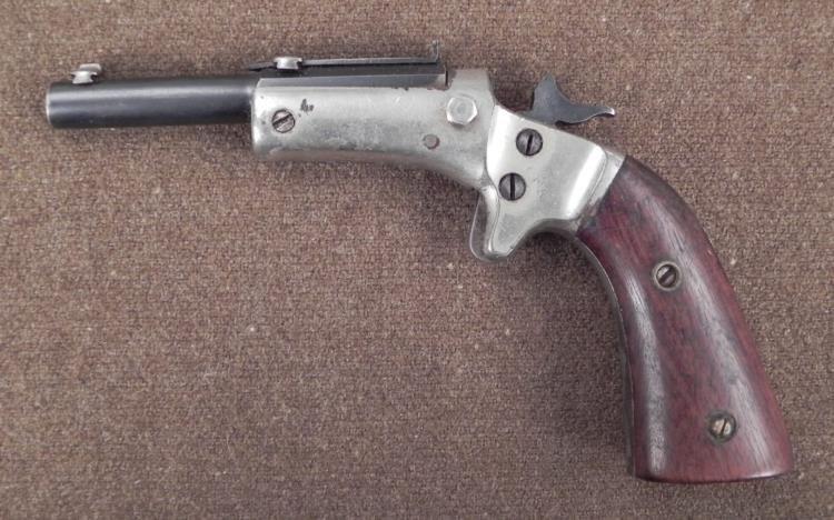 Antique Civil War Era Pistol Nickel Plated