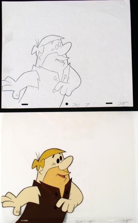 Drawing Animation Original Captured Cel The Flintstones